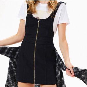 Zip Front Overall Dress